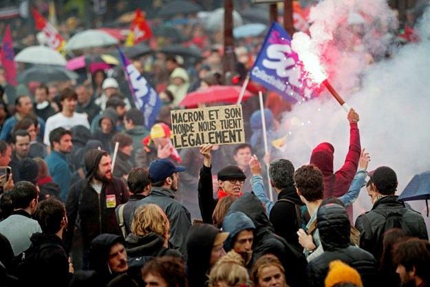 Veliki prosvjedi u Francuskoj: