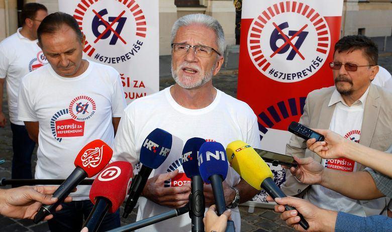 SINDIKATI DOŠLI NA MARKOV TRG 'Ako ne bude referenduma o mirovinskoj reformi, pozvat ćemo građane na ulice!'