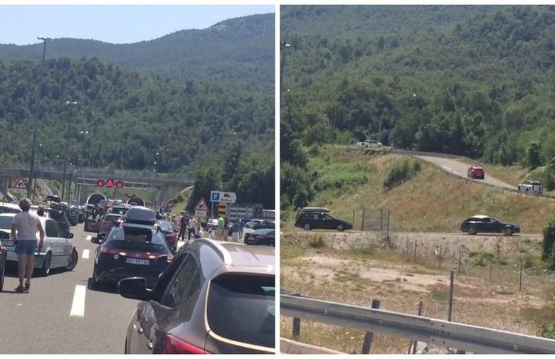 Nestrpljivi vozači probili ogradu na autocesti kod Svetog Roka i krenuli na 'put za nigdje'