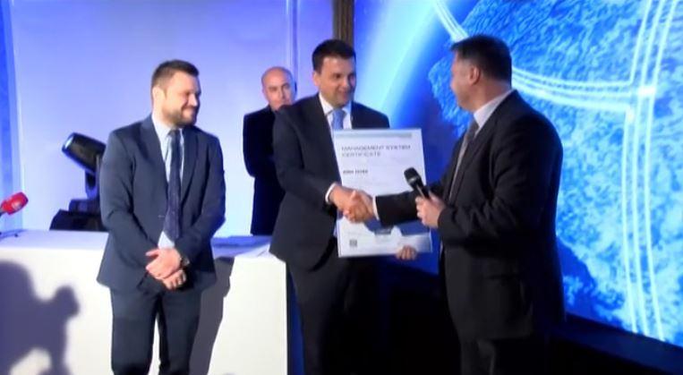 VIDEO: BINA-Istra prva tvrtka u regiji kojoj je dodijeljen međunarodni certifikat za sigurnost ISO39001