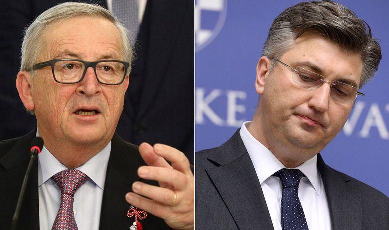 SEDAM GRIJEHA HRVATSKE VLADE: LEDENI JUNCKEROV TUŠ ZA PLENKOVIĆA 'Niste proveli nijednu reformu koju ste obećali i ugrozili ste rast gospodarstva!'